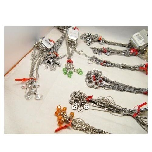 Wholesale Bulk Lot 24 Mixed Carded Silver & Gold Tone Chain Pendant Necklaces