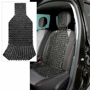 Wood Beaded Car Seat Cushion Car Seat Cover Massager Black