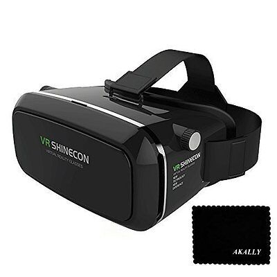 Akally 3D VR Headset Glasses Understood Reality Mobile Phone 3D Movies for iPhone