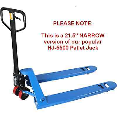 Narrow Pallet Jack 5500lb 21.5 X 48 New 1-year Warranty Ships Free