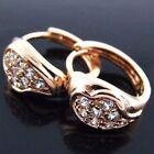 Diamond Huggie Rose Gold Filled Fashion Earrings