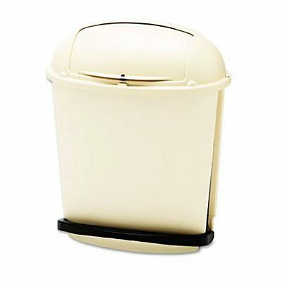 Rubbermaid 6177 Pedal Rolltop 14-1/2 Gallon Receptacle, Beige (RCP617700BG)