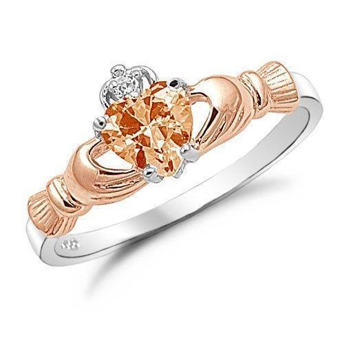Rose Gold Claddagh Ring Ebay