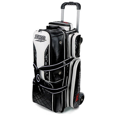 Storm Rolling Thunder Signature Edition Black 3 Ball Roller Bowling Bag
