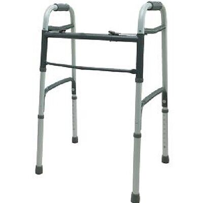 New Cardinal Health Two Button Folding Walker