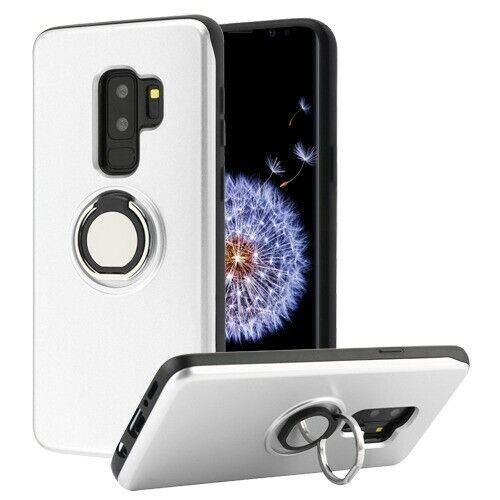 Samsung GALAXY S9 /Plus HYBRID Wallet Card Phone Case Ring S