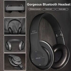 Foldable bluetooth headphones FM and memory card slot NEW