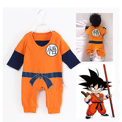 Anime Dragon Ball Goku KungFu Toddler Baby Jumpsuit Fancy Dress Costume  - Dbz Fancy Dress