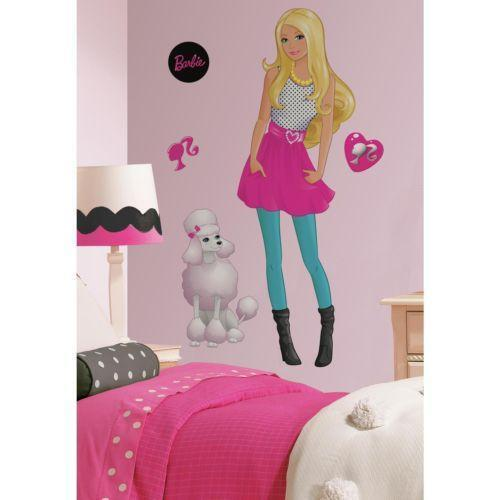 Barbie wall decals b wall decal for Barbie wall mural