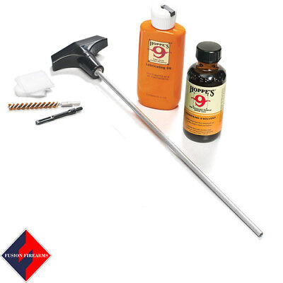 Hoppe's No.9 Synthetic Blend Pistol Cleaning Kit with Aluminum Rod - 45acp