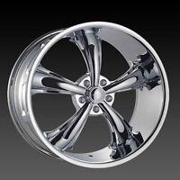 New! CHROME 5 spoke 20 rim/tire mustang charger challenger