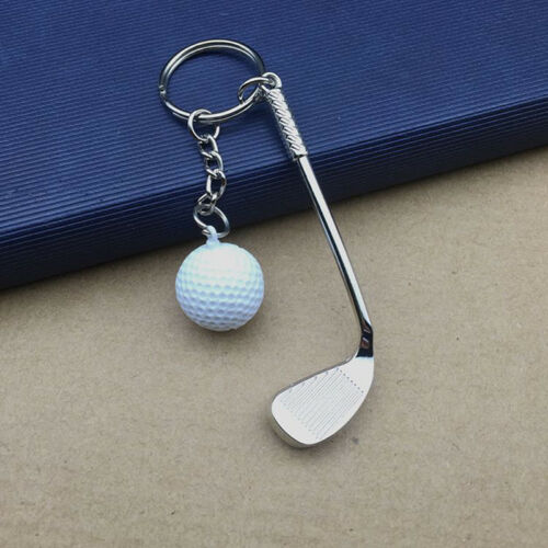 Classic Sports Silver Golf Clubs Keychain Keyring Key Chain Ring Gift White &l
