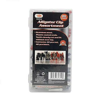 Iit 80pc Alligator Clips Stainless Steel Electrical Clip Red Black 82810