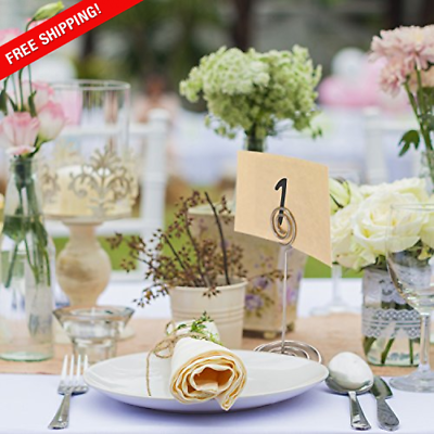 Wedding Table Name Number Holders Table Card Holder Stands, Silver, 24 Pack  - $16.79