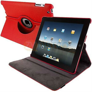 Red PU Leather 360 Rotating Case Cover for Ipad Mini 1 2 3 New Regina Regina Area image 3