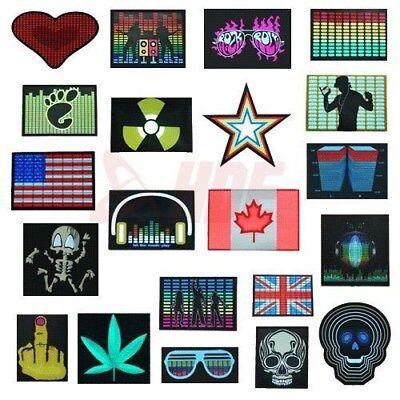 Sound Activated Rave Dance Club Party Shirt LED Light Panel w/ Sensor Module EQ](Sound Activated Leds)