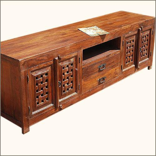solid wood tv stand ebay. Black Bedroom Furniture Sets. Home Design Ideas