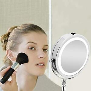 Brand New 10X Vanity Mirror with Lights Double Sided Round Light