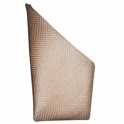 Mocha Cream Herringbone Silk Pocket Square - Full-Sized 16