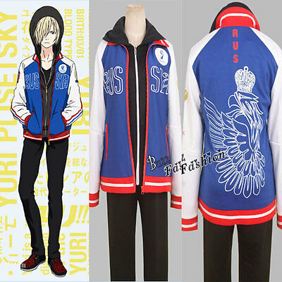 YURI!!! YURI on ICE Cosplay Karneval Stylish Kostüm Uniform Schule - Sport Kleidung Kostüm