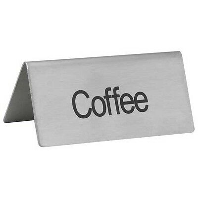 Winco Coffee - Winco SGN-103, -Coffee- Stainless Steel Tent Sign