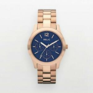 Rose Gold Blue Watch a3dc1a2d60d8