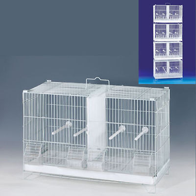 4 Stack and Lock Double Breeder Bird Breeding Cages With Dividers Combo Set -348