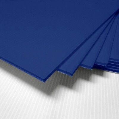 Dark Blue Corrugated Blank Sign Sheet 4mm X 12 X 12 - Vertical