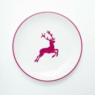 _ Gmundner Keramik Rojo Burdeos Ciervo Plato de Postre