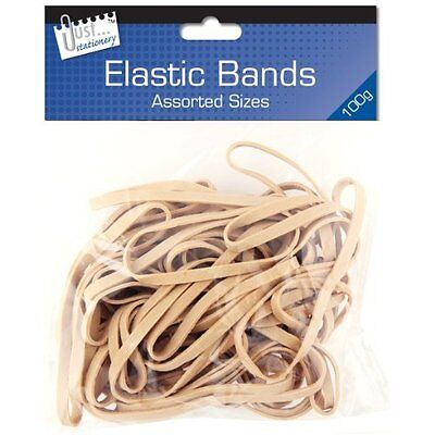 Quality Strong Original Elastic Rubber Bands 100g Assorted Size - Office School