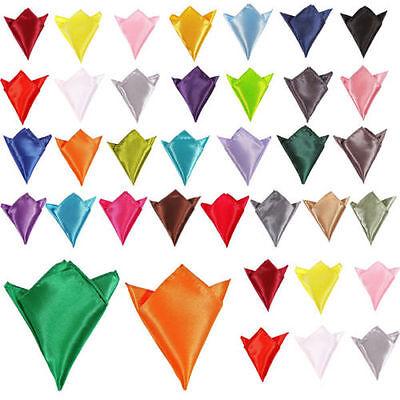 Neu Herren Stilvoll Italienisch Quadrat Satin Hochzeit Party Tasche Taschentuch