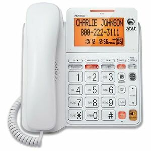 AT-T-CL4940-Standard-Phone-White-Corded-1-x-Phone-Line-Speakerphone-An