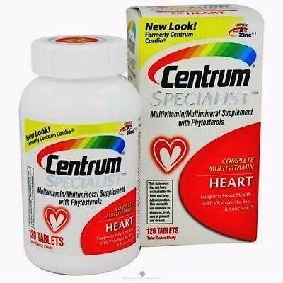 Centrum Specialist HEART Complete MultiVitamin 120 (Complete 120 Tablets)