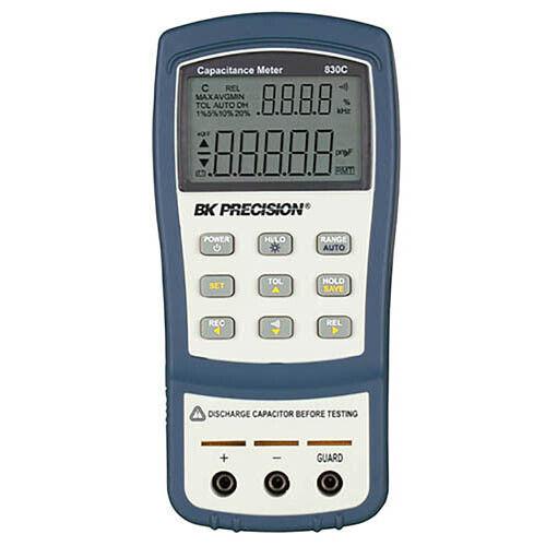 BK Precision 830C Dual-Display Handheld Capacitance Meter, 200 mF
