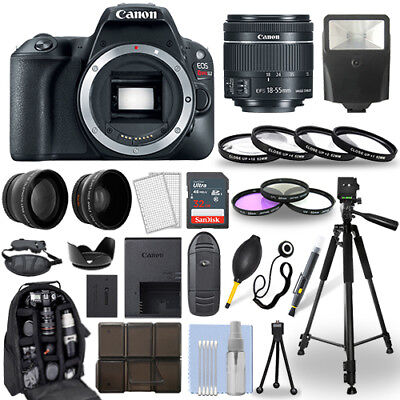 Canon EOS Rebel SL2 SLR Camera + 18-55mm STM Lens + 30 Piece Accessory Bundle