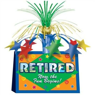 Retired Now the Fun Begins Centerpiece Retirement Party Supplies Decorations](Retirement Center Pieces)