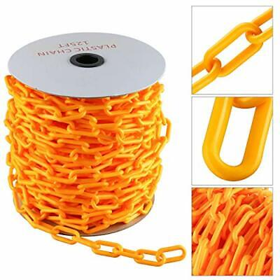 125ft Plastic Chain With Endless Applications In Crowd Control Yellow