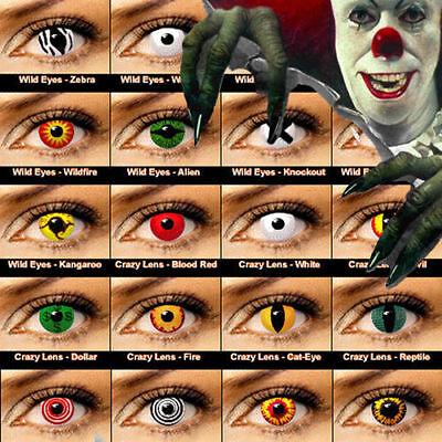 Crazy Coloured Contact Lenses Kontaktlinsen color contact lens color ONE PAIR