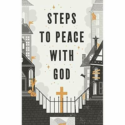 Halloween Steps to Peace with God (Pack of 25) - Paperback / softback NEW  31/10