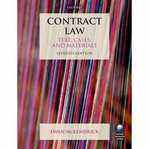 Contract Law: Text, Cases and Materials by Ewan McKendrick (Paperback, 2016)