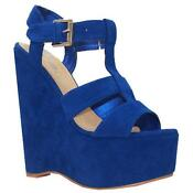Womens Electric Blue Shoes