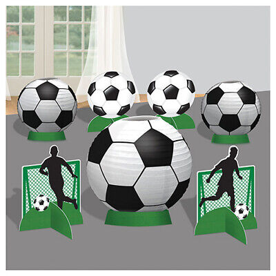 SOCCER Goal Getter PAPER LANTERN TABLE DECORATING KIT ~ Birthday Party Supplies (Soccer Party Decor)
