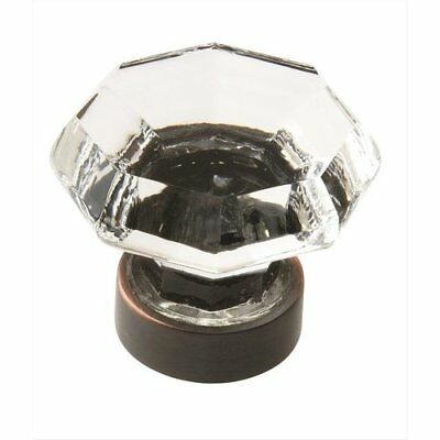 Traditional Classics 1-1/4 Inch Diameter Crystal/Oil Rubbed Bronze Cabinet Knob Amerock Traditional Classics Crystal