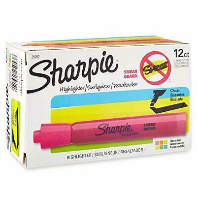 Sharpie Tank Highlighters Assorted Colors | Chisel Tip Highlighter Pens 12 Count