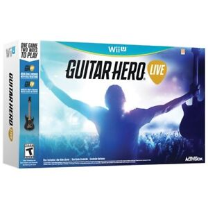 Activision WII U GUITAR HERO Live Bundle - New in box