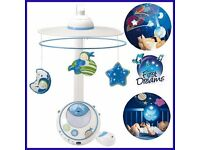 Magic stars cot mobile and night light