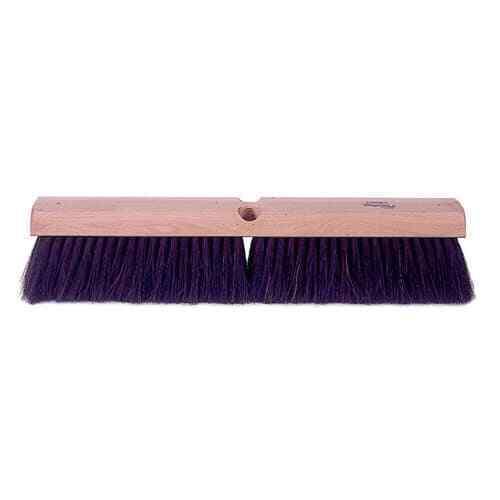 "Weiler 42002 24"" Fine Sweep Floor Brush, Black Horsehair Fill"