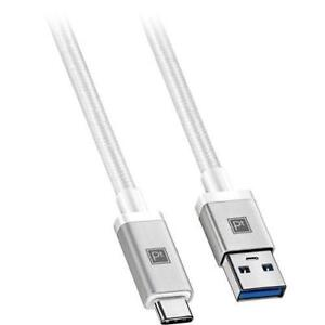 Platinum Series PT-MCAW-C 0.9m (3 ft.) USB-C to USB-A Braided Cable (New Other)
