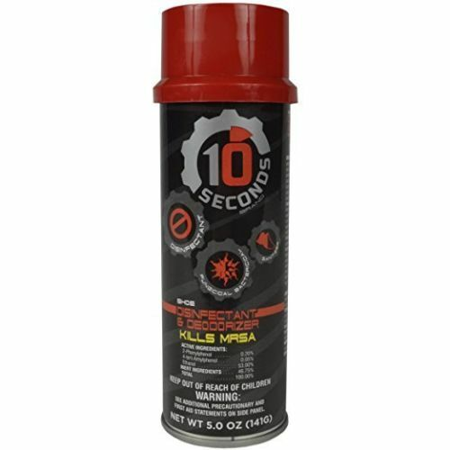 10 Seconds SHOE DISINFECTANT and DEODORIZER Spray 5oz Kills MRSA NEW
