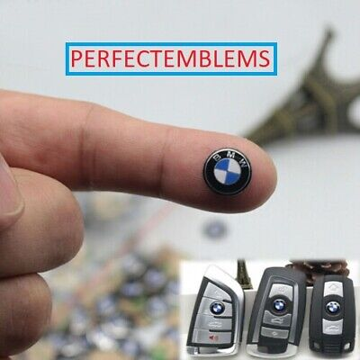 2 pieces 11mm  BMW Key Fob Logo Badge Sticker USA SELLER